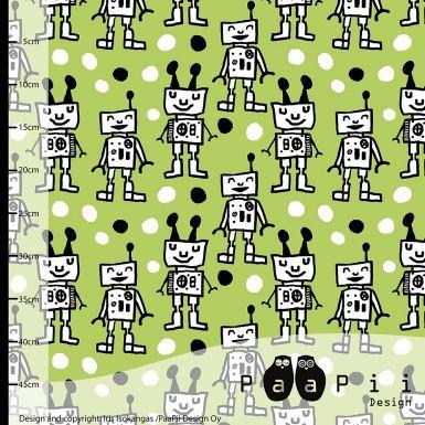 Happy Robots trikoo, omena - PaaPii Design