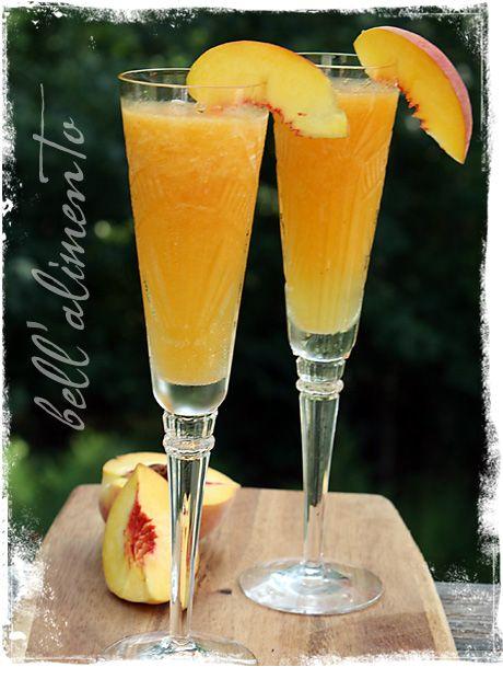 Peach Bellini | Recipe | Bellinis, Peach Bellini and Frozen Peach ...