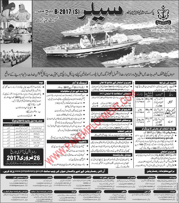 Pakistan Employment: Pakistan Navy Jobs Latest Advertisement 2017