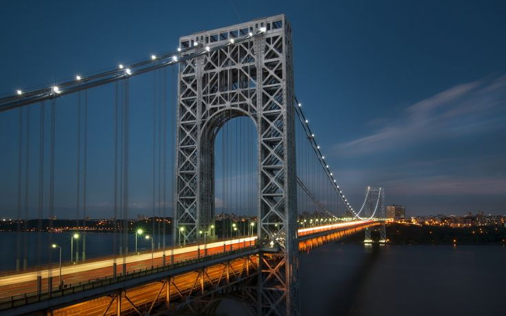мост джорджа вашингтона, город, река