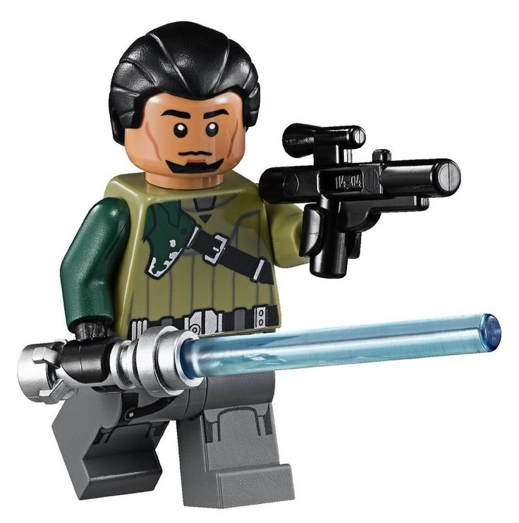 lego star wars kanan jarrus minifigure with gunlightsaber the ghost 75053