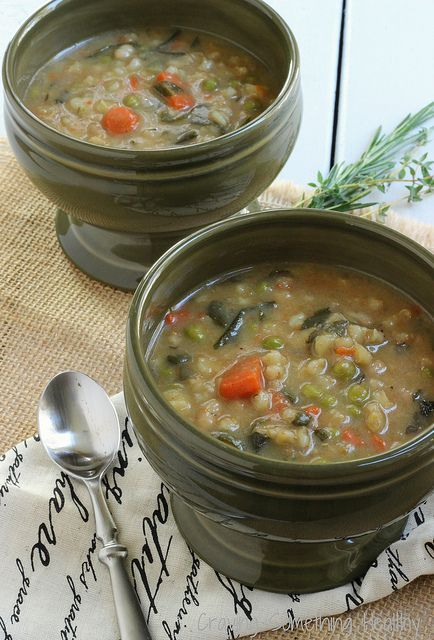 Heart Smart Bean and Barley Vegetable Soup The easiest and tastiest way to get 6 vegetables and lots of heart healthy ingredients in all at once! @Cravin
