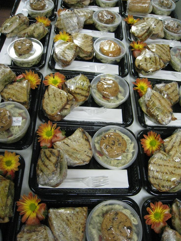 Executive Boxed Lunches For Corporate Meetings Or Events Various Sandwich Selections Are Available