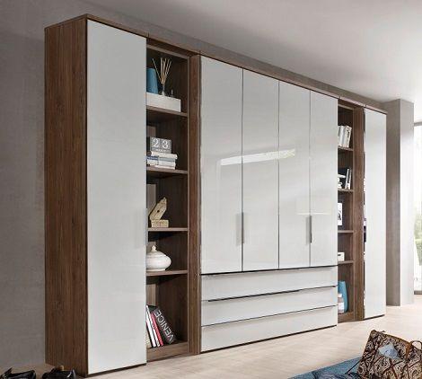Nice Horizont draaideurkast deuren laden corpus noten front deur glas wit