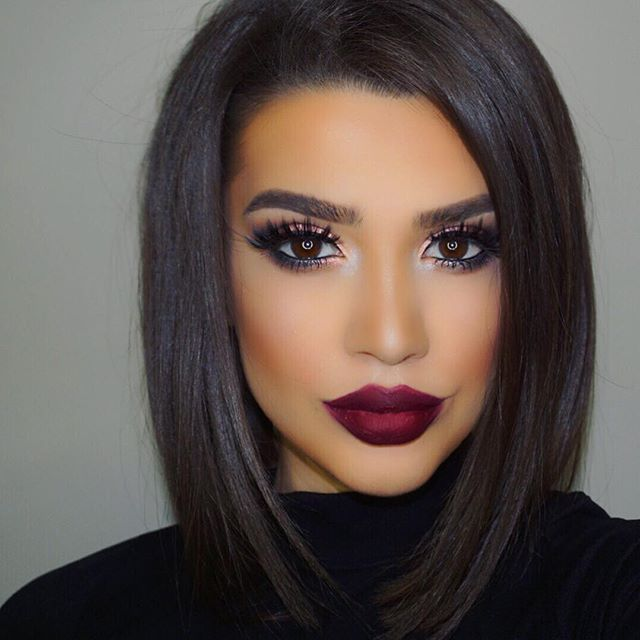 """WEBSTA @ exteriorglam - In love with this liquid lipstick  @liplandcosmetics """"Montenegro"""" by @theamrezycollection Eyeshadow: @morphebrushes 35N palette@sigmabeauty loose shimmer- GildedLashes: @kokolashes """"Stella""""@sigmabeauty liquid linerBrows: @colourpopcosmetics """"Dope Taupe""""Foundation: @milanicosmetics foundation mixed with @marcbeauty Concealer: @lagirlcosmetics concealer """"percelain"""" 