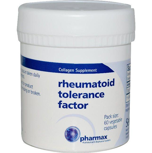 จำหน่าย ซื้อ ขาย อาหารเสริม คอลลาเจน collagen ราคาส่ง ยี่ห้อ Pharmax, Rheumatoid Tolerance Factor, 60 Veggie Caps