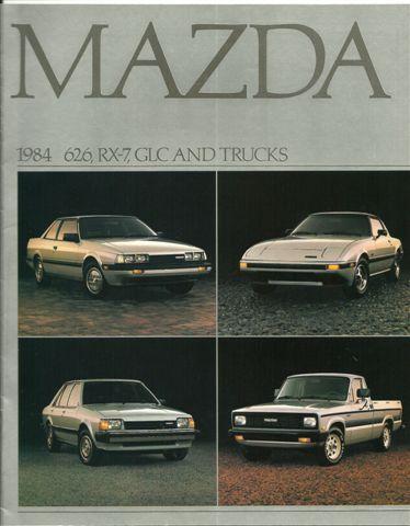 Mazda 1984 626, RX-7, GLC and Truck  Brochure -  Vintage New Automobile Sales Brochure. $5.75, via Etsy.