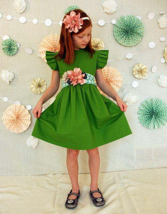 mossy modern play dress on Etsy, $48.00