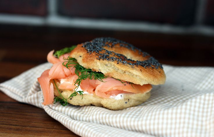 New York style homemade bagels with fillings