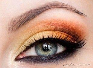 Orange eyeshadow!