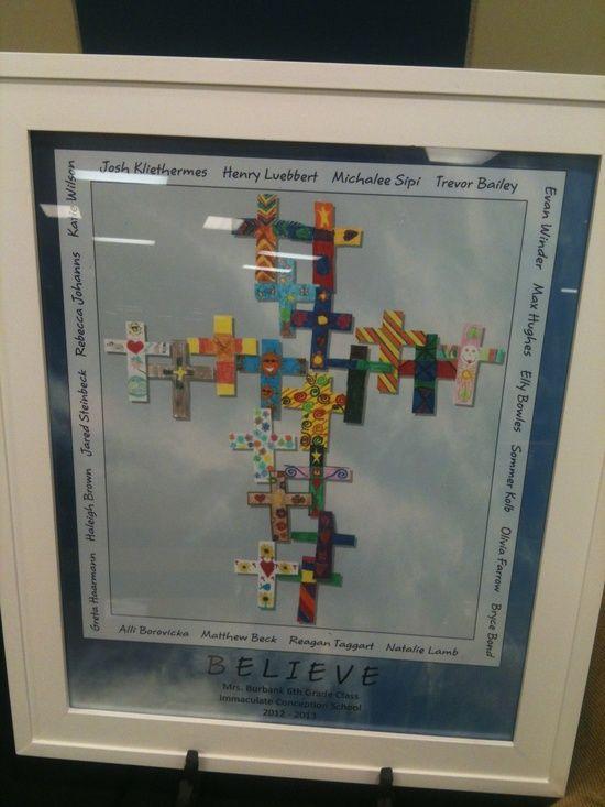 crosses art project ideas   Art Auction Projects Ideas / 6th Grade Cross Collage for School ARt ...