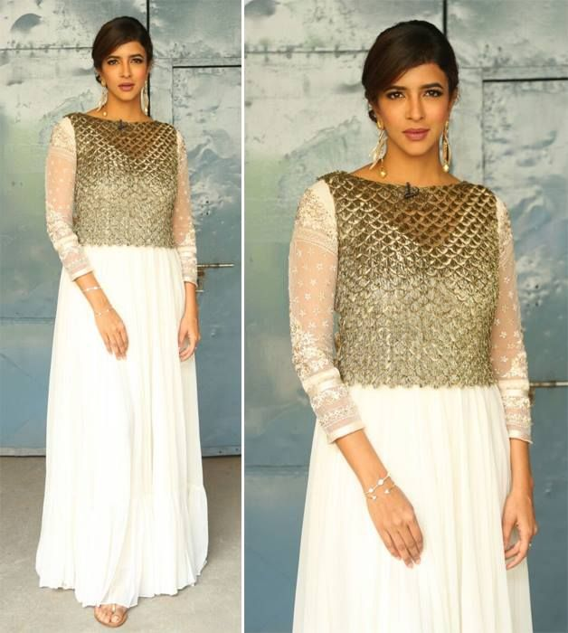 Celebrity spotting: White and gold has never looked this good! Lakshmi Manchu in…