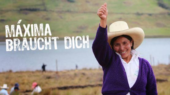 Am 5. August 2014 verurteilte ein Richter in Peru Máxima Acuña zu fast drei Jahren Haft und zu einer Geldstrafe von umgerechnet 1.500 Euro an die Goldminenfirma Yanacocha. Weil die Bäuerin sich weigert, Haus und Hof zu verlassen, wurde sie wegen angeblicher Landbesetzung abgestraft. Bitte schreiben Sie noch heute an die Regierung: https://www.regenwald.org/aktion/965/peru-goldminenkonzern-gegen-mutige-baeuerin
