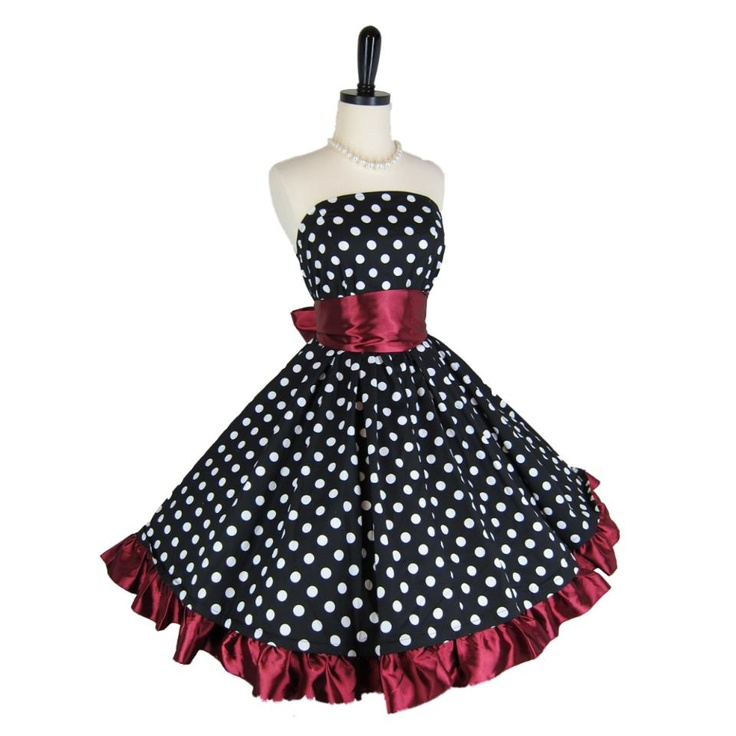 .Fashion, Vintage Prom Dresses, Polka Dots, 1950S Style, Clothing, 1950S Dresses, Beautiful Vintage Dresses, Pretty Things, Retro 1950S