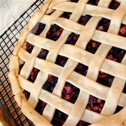 Rhubarb and Blackberry Pie @ allrecipes.com.au