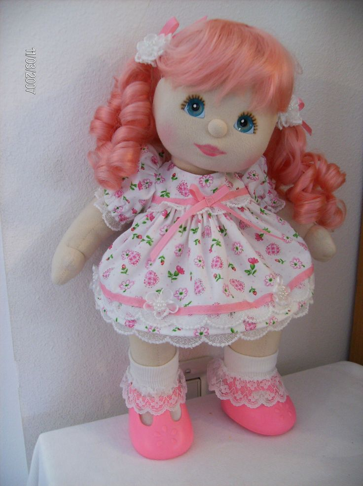 OOAK Pink Wig My Child Doll