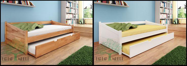Naturalny czy może jednak biały? Łóżko Anna to idealny wybór dla osób, które cenią sobie wysoką jakość wykonania w połączeniu z eleganckim wyglądem. #tartakmeble #łóżko #sklep  #buk #bed #meble