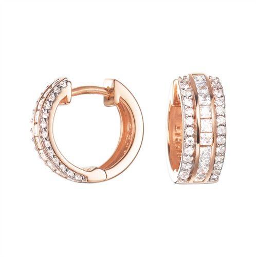 Esprit Silbercreolen Exquisite Rose #earrings #silver #jewelry #esprit
