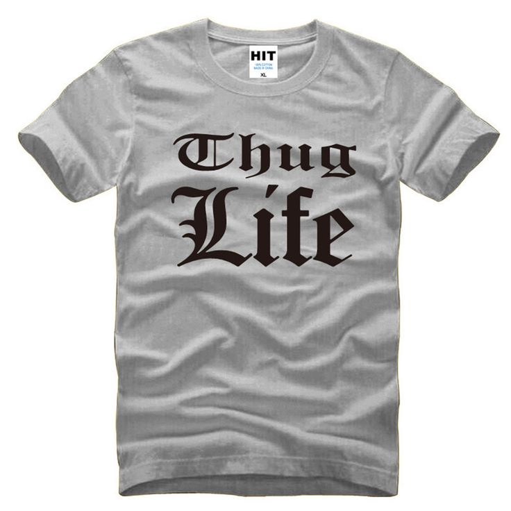 Thug Life Tupac 2PAC Rock Rap Mens Men T Shirt Tshirt Fashion 2016 New Short Sleeve O Neck Cotton T-shirt Tee Camisetas Hombre #Affiliate