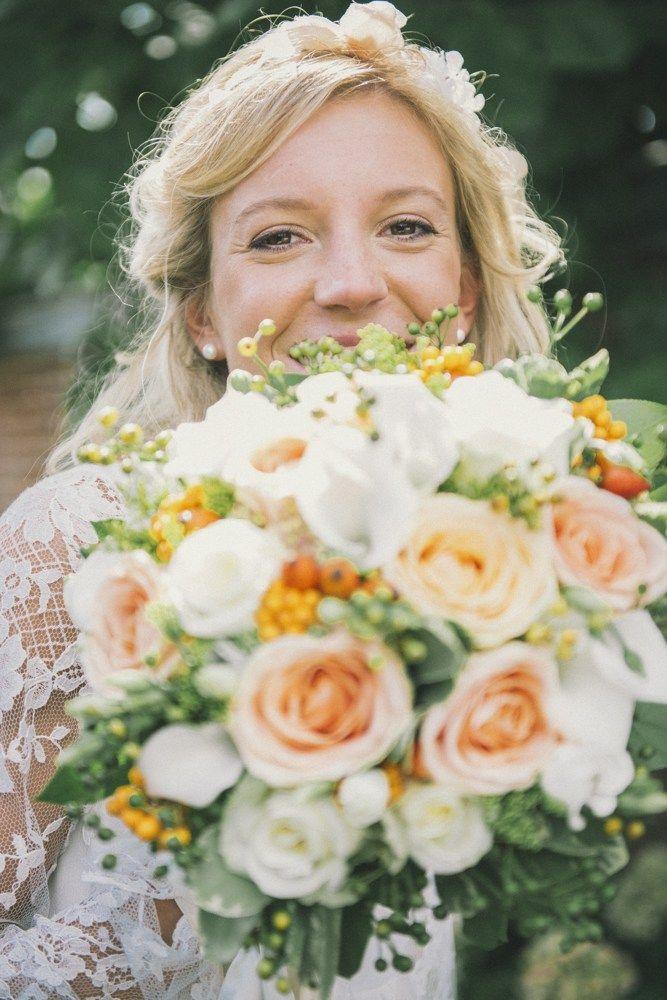 Bouquet de fleurs pastel - mariage - classico champêtre