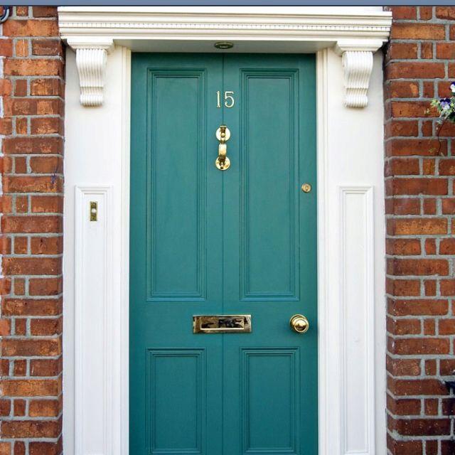 The 25 best teal front doors ideas on pinterest teal for Teal front door