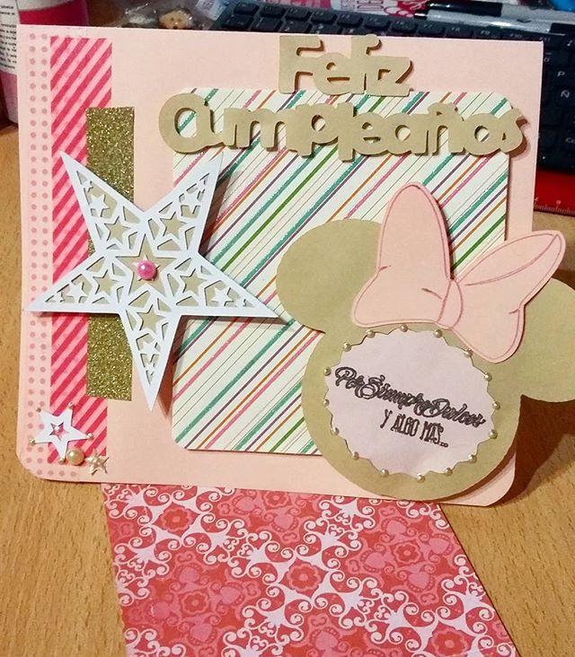 Tarjeta de cumpleaños personalizada para #PorSiempreDulces ~ Más info en http://facebook.com/florenciarezzanodesings