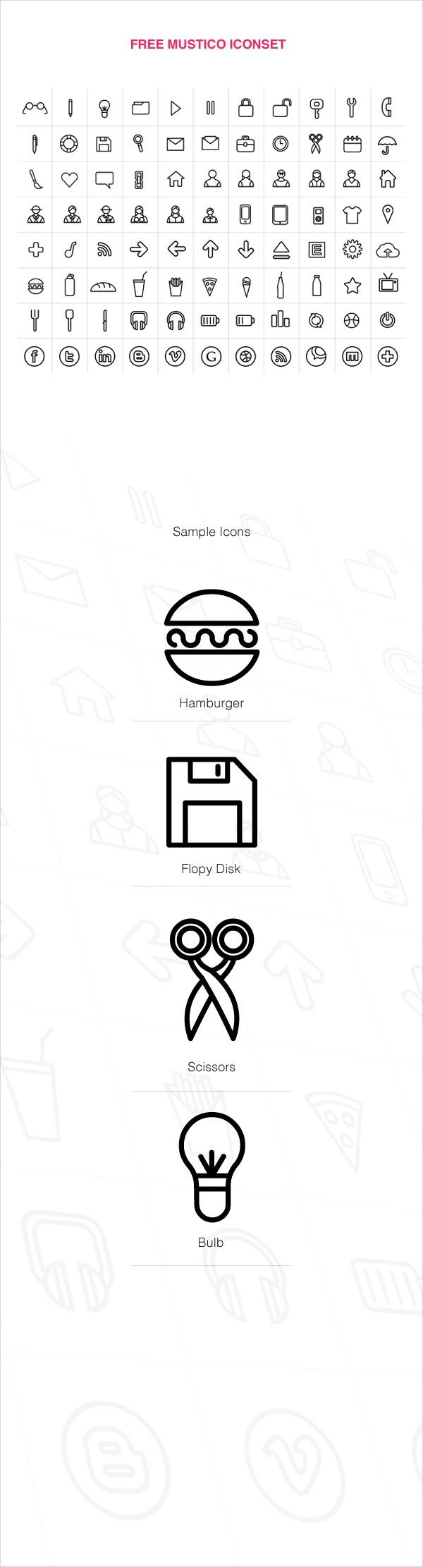 Free Mustico Iconset