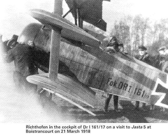The Red Baron (Manfred von Richthofen) in the cockpit