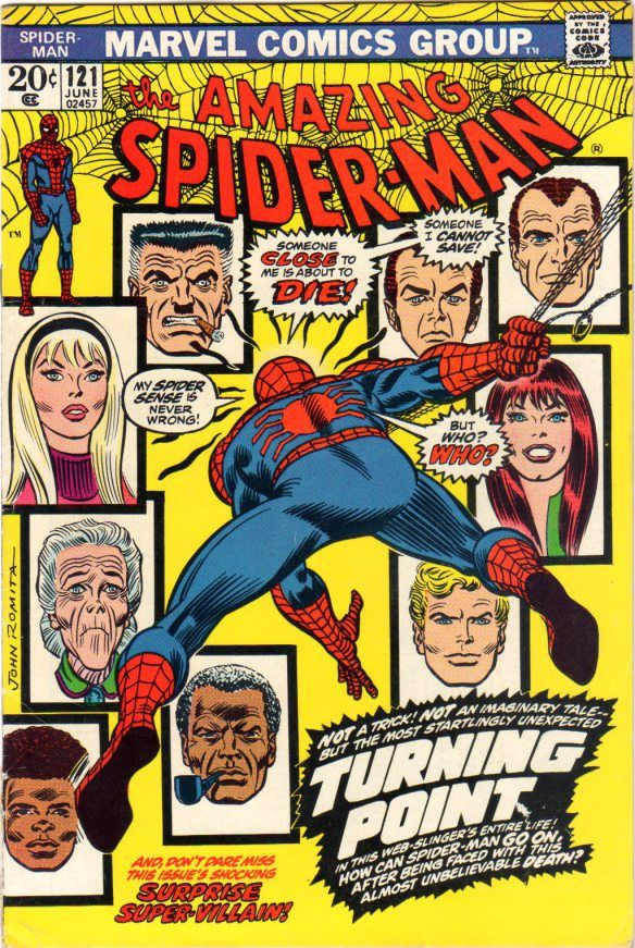 Amazing Spider-Man #121,the death of Gwen Stacy. Historically the best Bronze-Age story and the best and most shocking,in my opinion,Spider-Man story to ever see print!