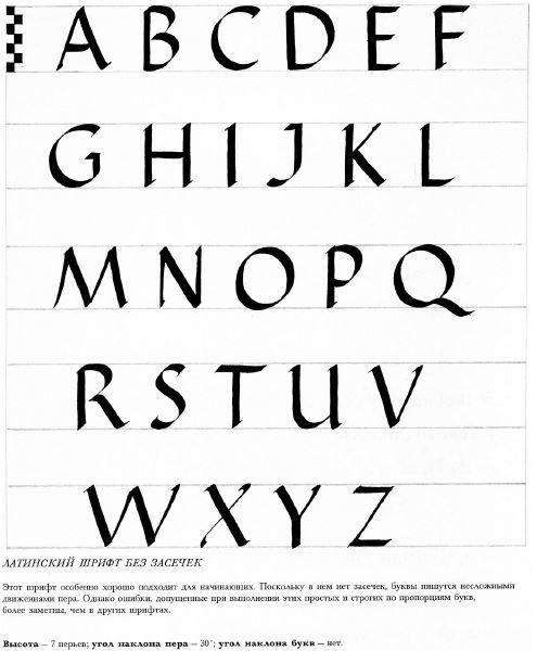 Латинский шрифт без засечек