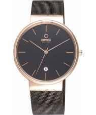 Mens Obaku Mens Rose Gold Plated Black Mesh Bracelet Watch 130.00 Watches2U