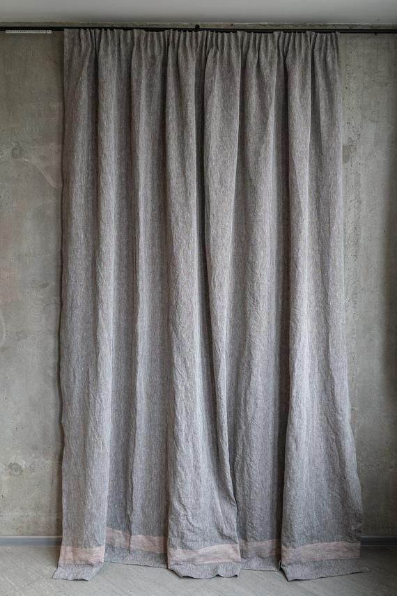 Natural Linen Curtains In Scandinavian Nordic Style Organic Rustic Window Home Decor Minimalist Dr Linen Curtains Curtains Rustic Window