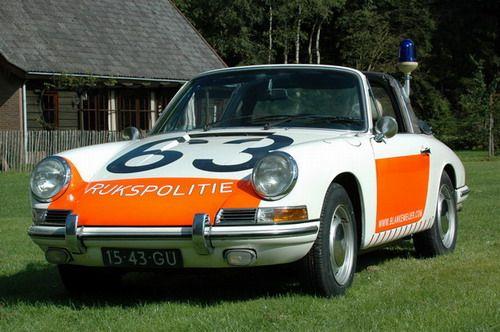 1968 Porsche 912 Targa, used by the Dutch police