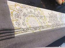 �� Made to Measure Roman Blind in Next Ornate cream, gold & grey ��