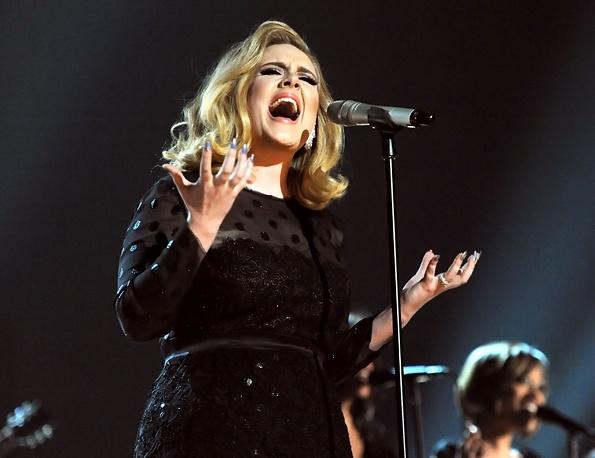 Adele. on the Grammy Awards