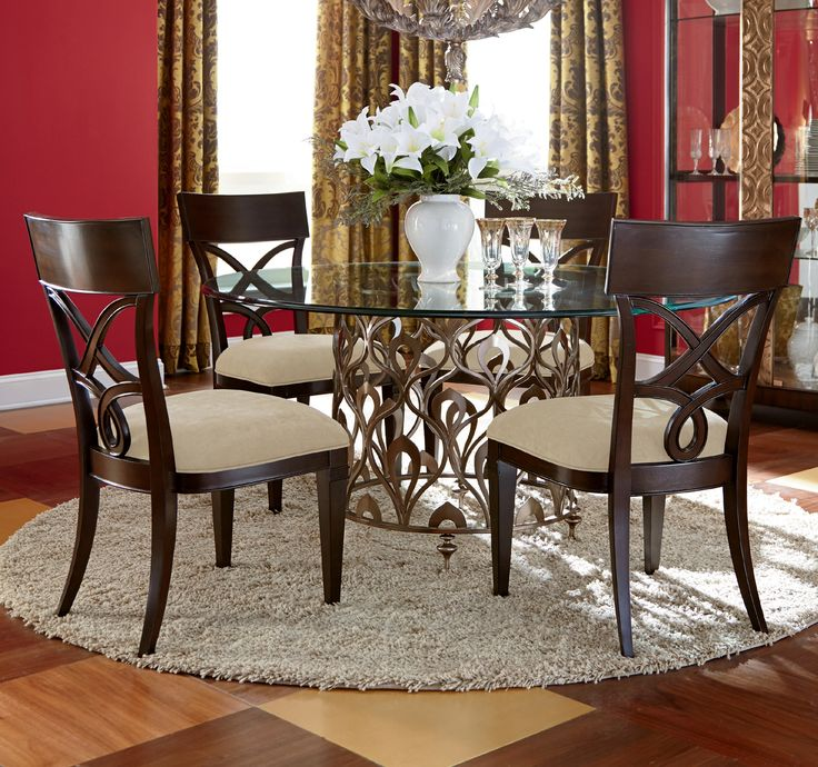 Bob Mackie Home, Bob Mackie Home Round Pedestal Dining Room Set, Dining  Room Table Sets, Bedroom Furniture, Curio Cabinets And Solid Wood Furniture    Model ...