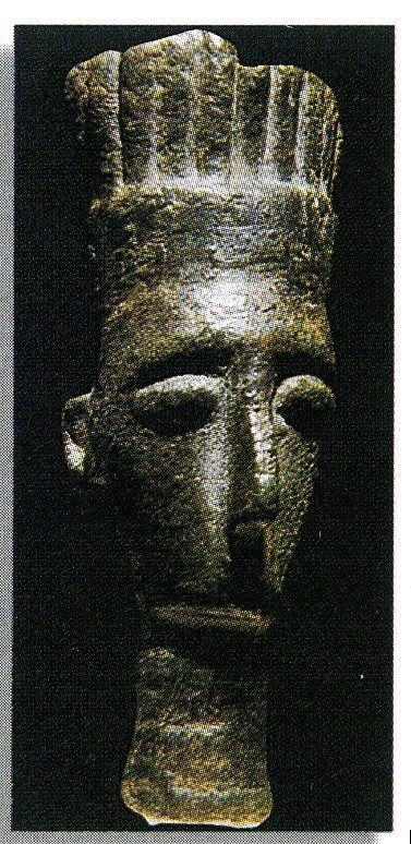 Peleset - frammento bronzeo    età del bronzo 800 a.C. Decimoputzu - Cagliari
