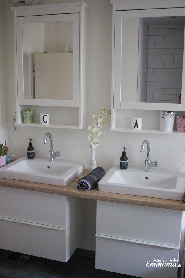 Makeover Badezimmer in grau und weiß