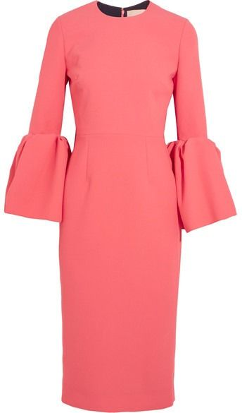 Statement sleeves and perfectly pink