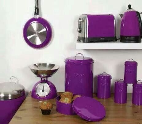I would love a purple kitchen.