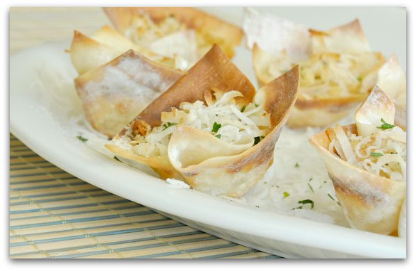 crunchy coconut shrimp cups from @Jenn L www.peasandcrayons.com ...