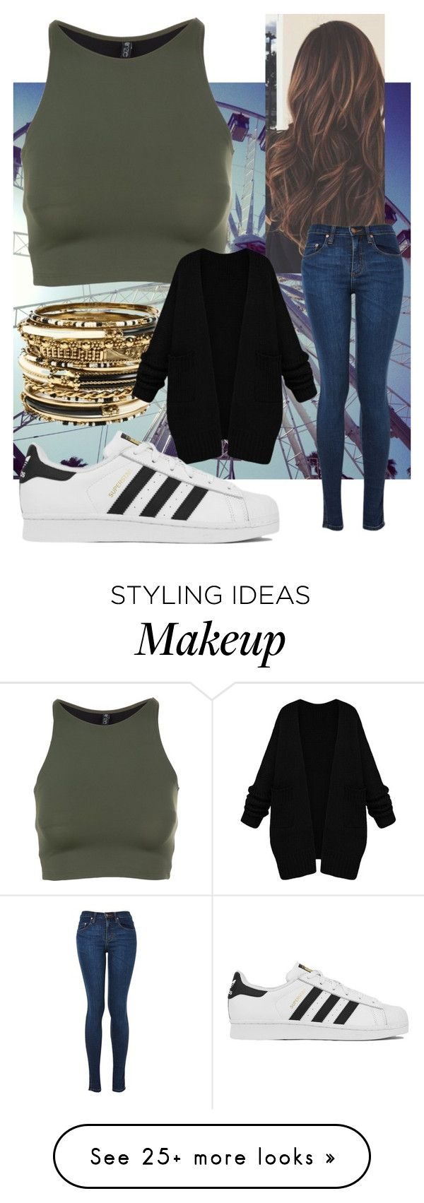 """""""Untitled #359"""" by chafashion143 on Polyvore featuring Amrita Singh, Onzie, adidas, women's clothing, women, female, woman, misses and juniors"""