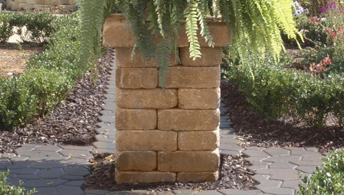 Build a Pillar from Patio Block