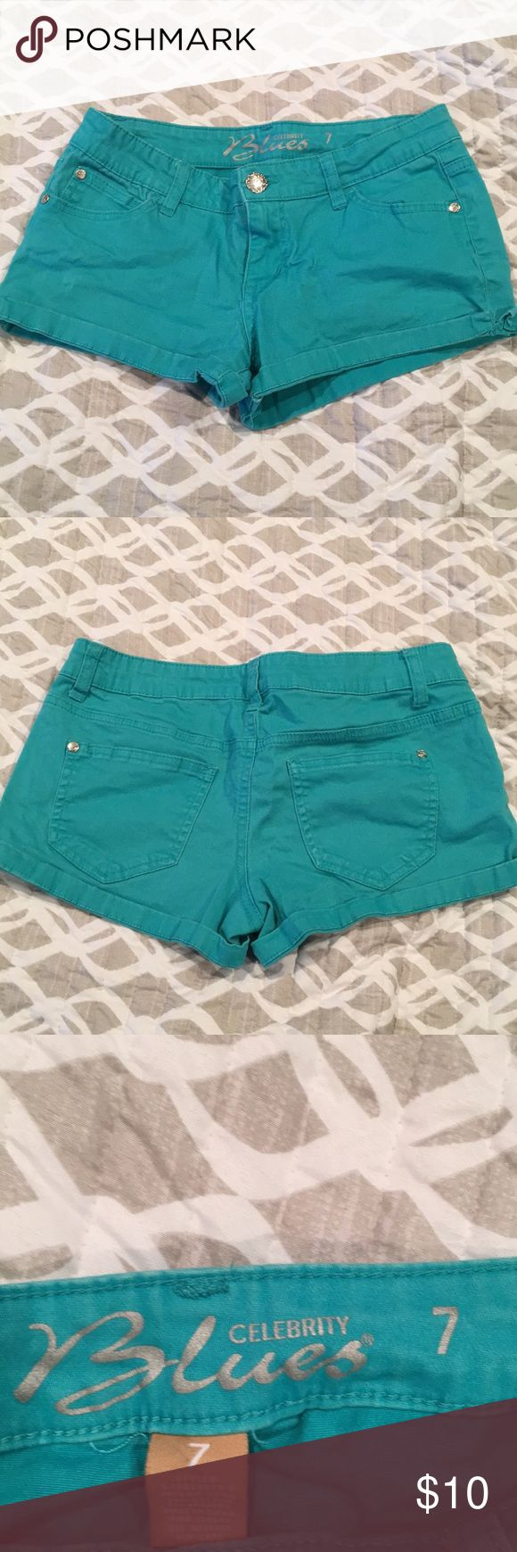 Teal shorts Teal cotton shorts, really comfortable Celebrity Blues Shorts