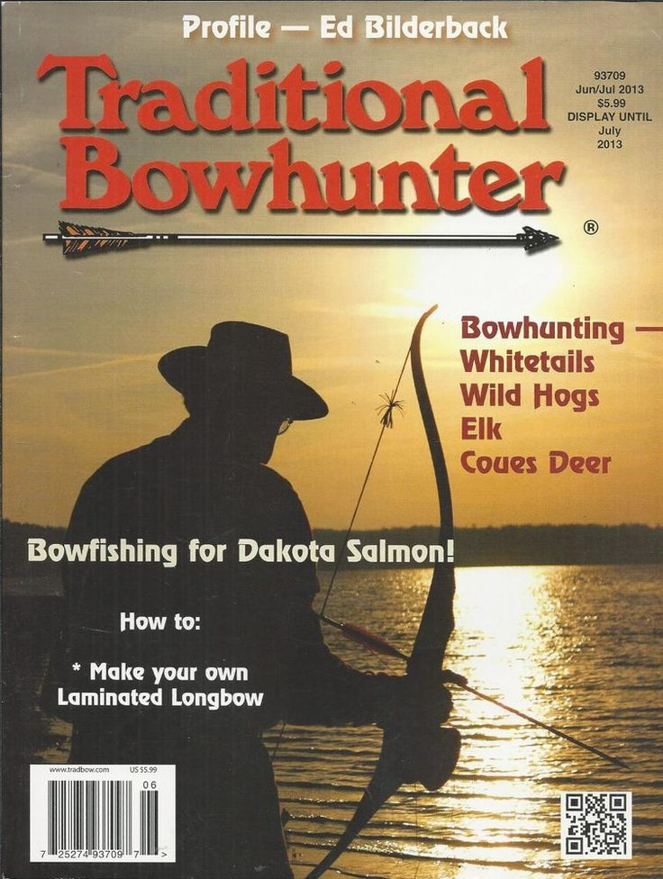 Traditional Bowhunter magazine Bowfishing Dakota salmon Whitetails Wild hogs Elk