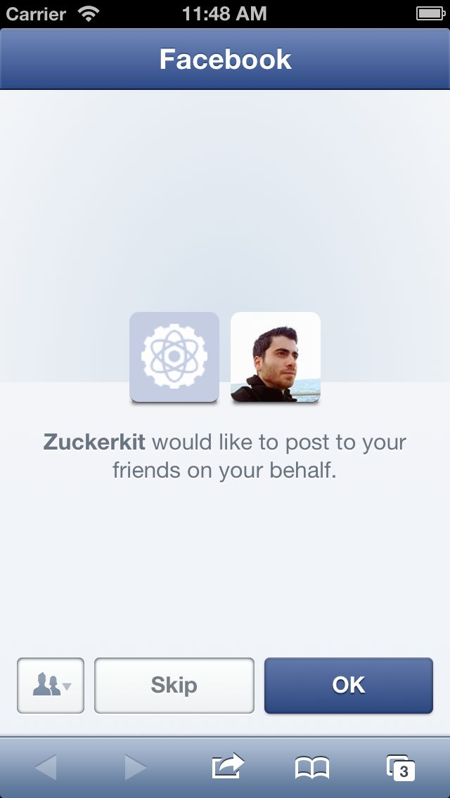 Because I always feel like wasting time when I have to integrate Facebook...