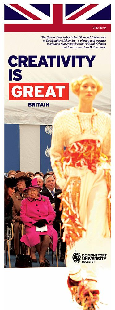 The Queen chose to begin her Diamond Jubilee tour at De Montfort University - a vibrant and creative institution that epitomises the cultural richness which makes modern Britain shine.