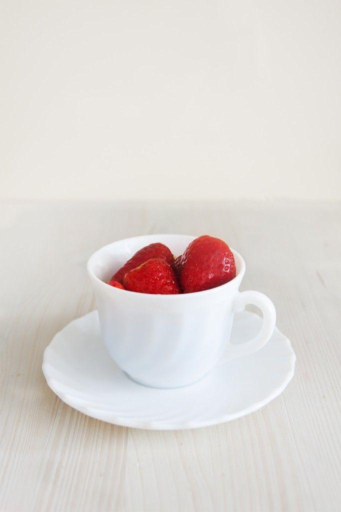 Truco:  fresas con vinagre #strawberries #fresas #styling