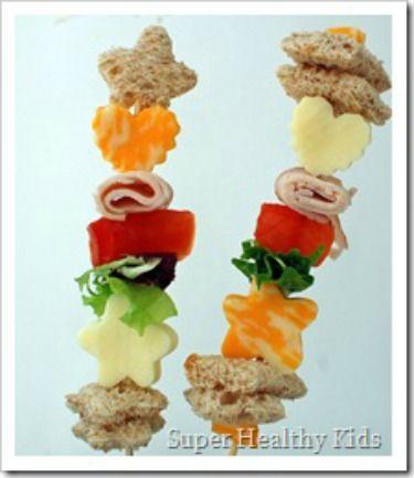 School Lunch Ideas - Shish Kabob Sandwiches gladinspiredlunches