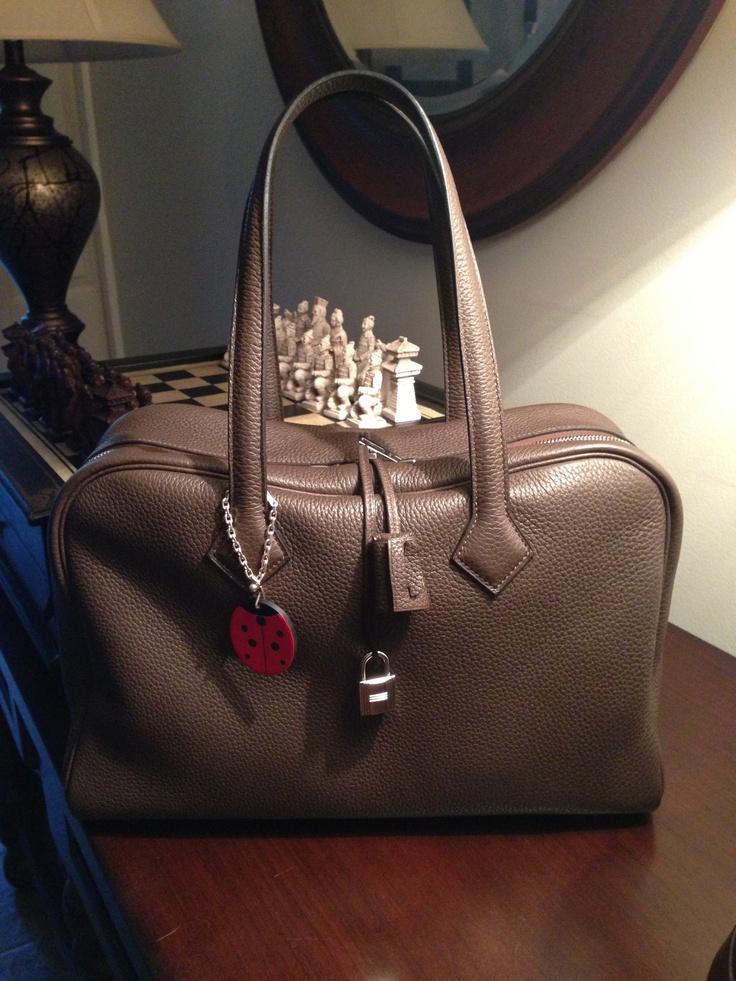 Hermes Victoria II, Clemence leather, \u0026quot;Cafe\u0026quot;-$4500 | Handbag ...